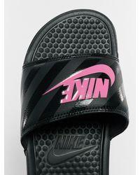 Nike Frauen Sandalen Benassi JDI - Schwarz