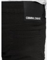 Criminal Damage Männer Skinny Jeans Camden - Schwarz