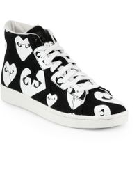 Play Comme des Garçons Canvas High-Top Sneakers - Lyst
