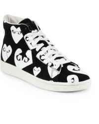 Play Comme des Garçons Canvas High-Top Sneakers - Lyst