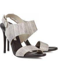 Acne Studios Tillie Water Snake Sandals - Grey