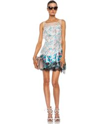 Nina Ricci Printed Silk Slip Dress - Lyst