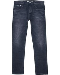 Calvin Klein Mid-Rise Tapered Leg Jeans - Lyst