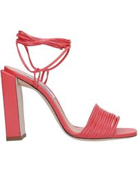 Sebastian Sandals In Red Leather