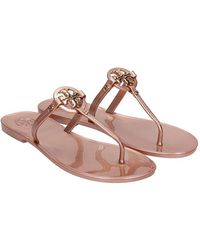 Tory Burch Sandali flats Mini Miller in PVC Bronzo - Multicolore