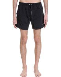 Balmain Beachwear In Black Polyamide
