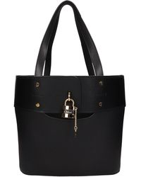 Chloé Aby Tote In Black Leather
