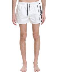 Balmain Beachwear In White Polyamide