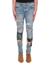 Amiri Jeans in denim Celeste - Blu