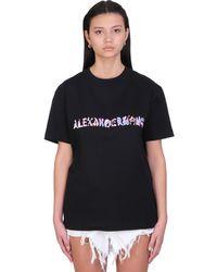 Alexander Wang T-shirt In Black Cotton