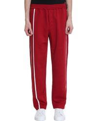 Helmut Lang Pantalone in poliestere rosso