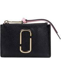 Marc Jacobs - Wallet In Black Leather - Lyst