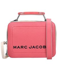 Marc Jacobs Borsa a spalla The Box 20 in Pelle Rosa