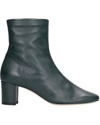 Fabio Rusconi High Heels Ankle Boots In Green Leather