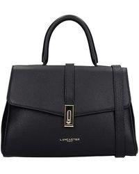 Lancaster Hand Bag In Black Leather