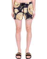 Versace Beachwear in Poliestere Nera - Nero
