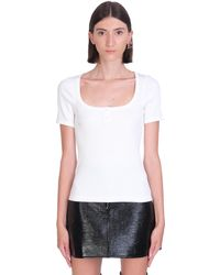 Courreges T-shirt In White Cotton