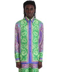 Versace Camicia con stampa - Verde