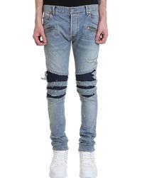 Balmain Jeans in denim Blu