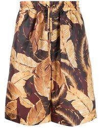 Cmmn Swdn Shorts in Poliestere Bordeaux - Multicolore