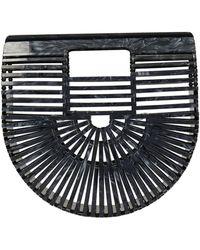 Cult Gaia Gaia Ark Mini Hand Bag In Black Acrylic