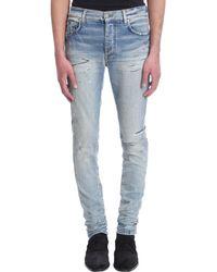 Amiri Jeans in Cotone Blu