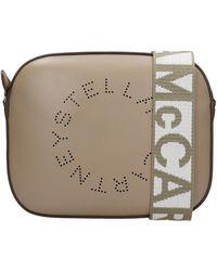 Stella McCartney Shoulder Bag In Green Faux Leather