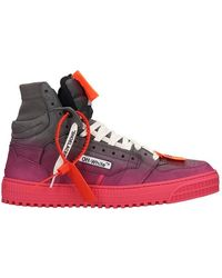 Off-White c/o Virgil Abloh Sneakers Off Court in Pelle Viola - Multicolore