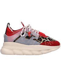 Versace Sneakers in tecnico Rosso