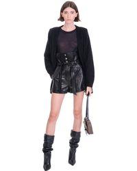IRO Kolka Shorts In Black Leather