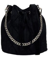 Lancaster Shoulder Bag In Black Velvet