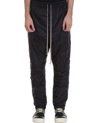 Rick Owens Track Pants Pants In Black Polyamide