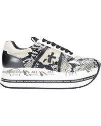 Premiata Beth Sneakers In Black Leather