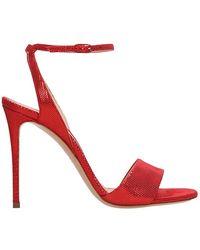 Casadei Sandali in pelle laminata rossa - Rosso