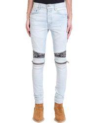 Amiri - Bandana Mx2 Jeans In Cyan Denim - Lyst