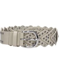 Isabel Marant Nowy Belts In Beige Leather - Natural