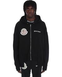 8 MONCLER PALM ANGELS Sweatshirt In Black Cotton