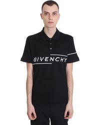 Givenchy Polo in cotone con logo - Nero