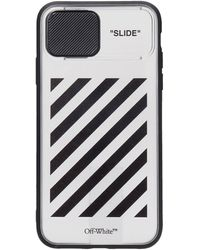 Off-White c/o Virgil Abloh Diag Slide Iphone 11 Iphone / Ipad Case In Black Polyuretan
