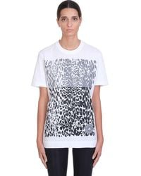 adidas By Stella McCartney Sport T-Shirts & Tops Graphic tee in Cotone Bianco