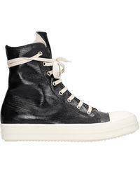 Rick Owens Drkshdw Sneaks Sneakers In Black Leather