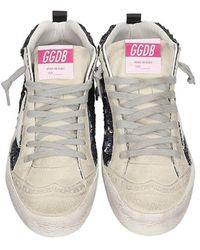 Golden Goose Deluxe Brand Sneakers Mid Star in Camoscio Grigio
