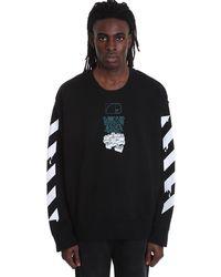 Off-White c/o Virgil Abloh Dripping Arrows Sweatshirt In Black Cotton