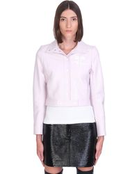 Courreges Casual Jacket In Rose-pink Cotton