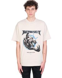 Represent T-shirt In White Cotton