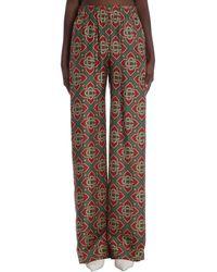 CASABLANCA Pantalone in Seta Marrone