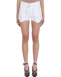 Off-White c/o Virgil Abloh Shorts Embroidered in denim bianco - Neutro