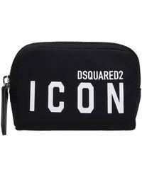 DSquared² Wallet In Black Nylon