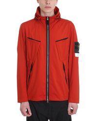 Stone Island Red Polyamide Jacket
