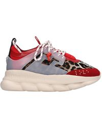 Versace Sneakers Chain Reaction - Rosso